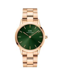 Daniel Wellington ADW00100419 - Lækkert dameur 36 MM Iconic Emerald Rose